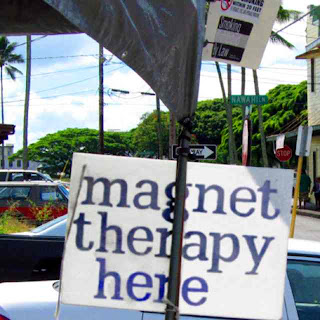 Magnet Therapy Here - Hilo Farmers Market (c) David Ocker