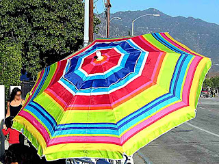 Beach Umbrella - Before Rose Parade 2008 (c) David Ocker