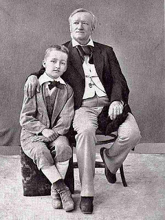 Richard Wagner and his son Siegfried