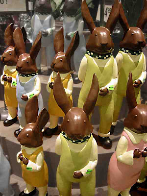 A Choir of Chocolate Bunnies on sale at Vons