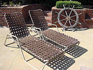 Bill Kraft Backyard - two chaise lounges