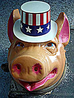 a pig mask