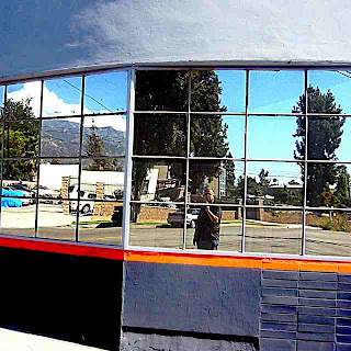 David in front of mirror windows Pasadena CA (c) David Ocker