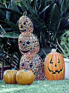 Halloween Decoration - Pumpkin Snowman (c)David Ocker