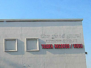 June 2006 Tower Records Pasadena still in business but Good Guys out of business