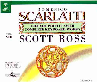 A CD cover from complete Scarlatti Sonatas by Scott Ross