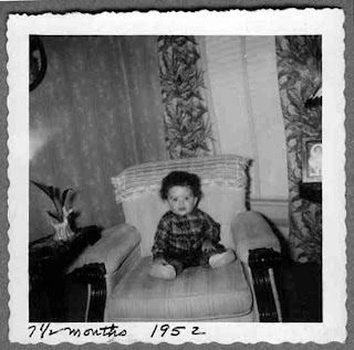 David Ocker - age 7.5 months (1952) sitting in the same chair