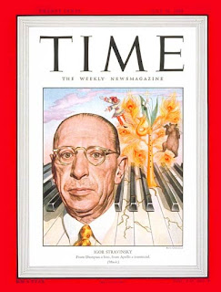 Time Magazine with Igor Stravinsky on the cover