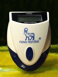 Novo Nordisk pedometer which did work worth shit