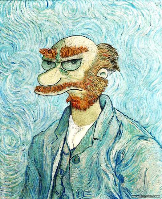 Groundskeeper Willie portrait by Van Gogh