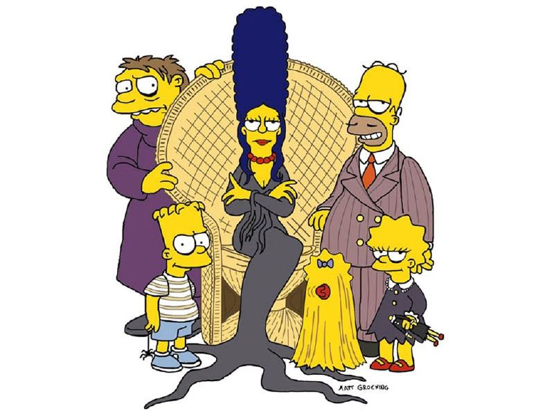 The Simpsons as The Addams Family