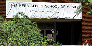 The Herb Alpert School of Music at CalArts Temporary Sign
