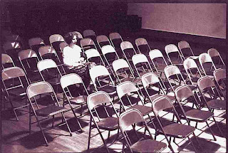 ICA Second Second Story Series 1978 empty chairs & Susan Palmer