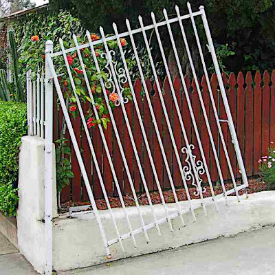 Crooked Wrought Iron Gate Pasadena CA (c) David Ocker