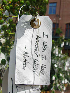 Yoko Ono Wish Trees Pasadena CA wish I had another wish