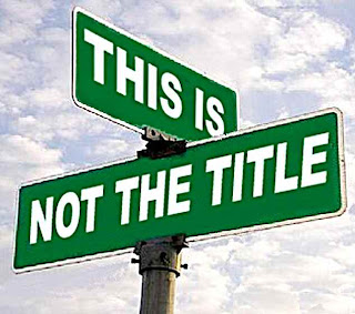 This Is Not The Title street sign
