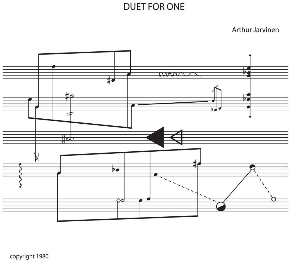 Duet for One - graphical music score (c) 1980 Arthur Jarvinen