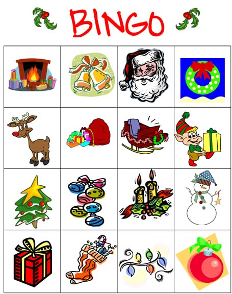 Versatile image in christmas bingo printable
