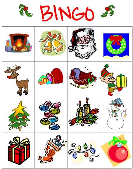 Simplicity image in christmas bingo printable
