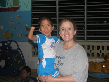 Faith's little friend Lam when we were in Vietnam at the Go Vap orphanage. He now lives in Florida.