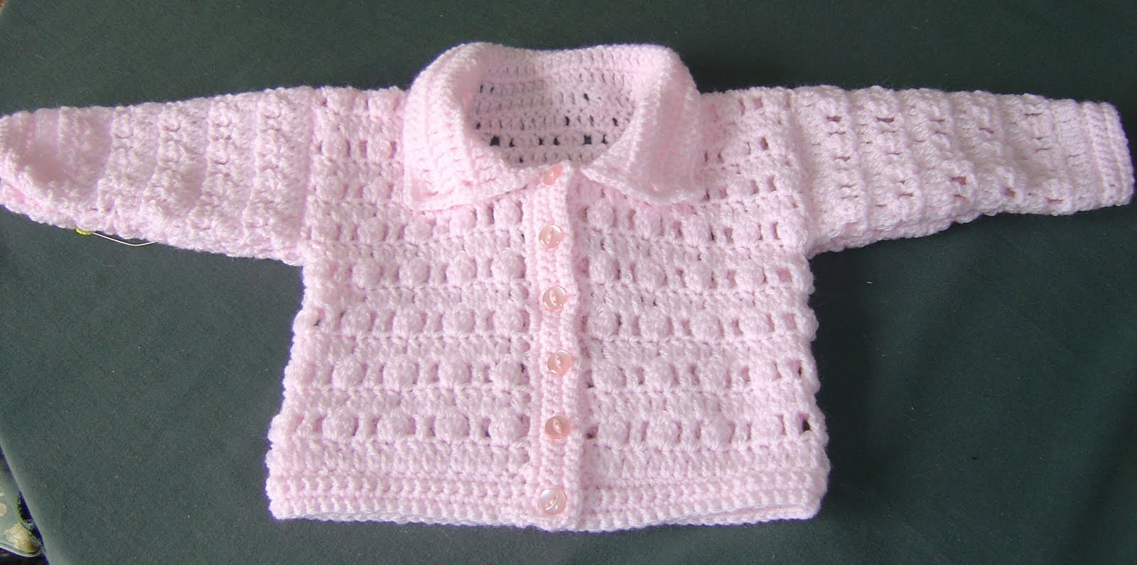 Free Crochet Pattern For Easy Baby Sweater : Free Crochet Jacket Pattern