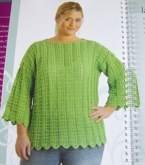 Knitting Patterns For Plus Size Sweaters : PLUS SIZE CROCHET PATTERN   Easy Crochet Patterns