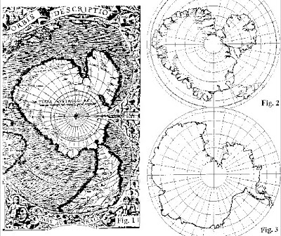 blank maps of antarctica. map of Antarctica drawn on