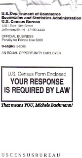 The Census calls out Rep. Bachmann