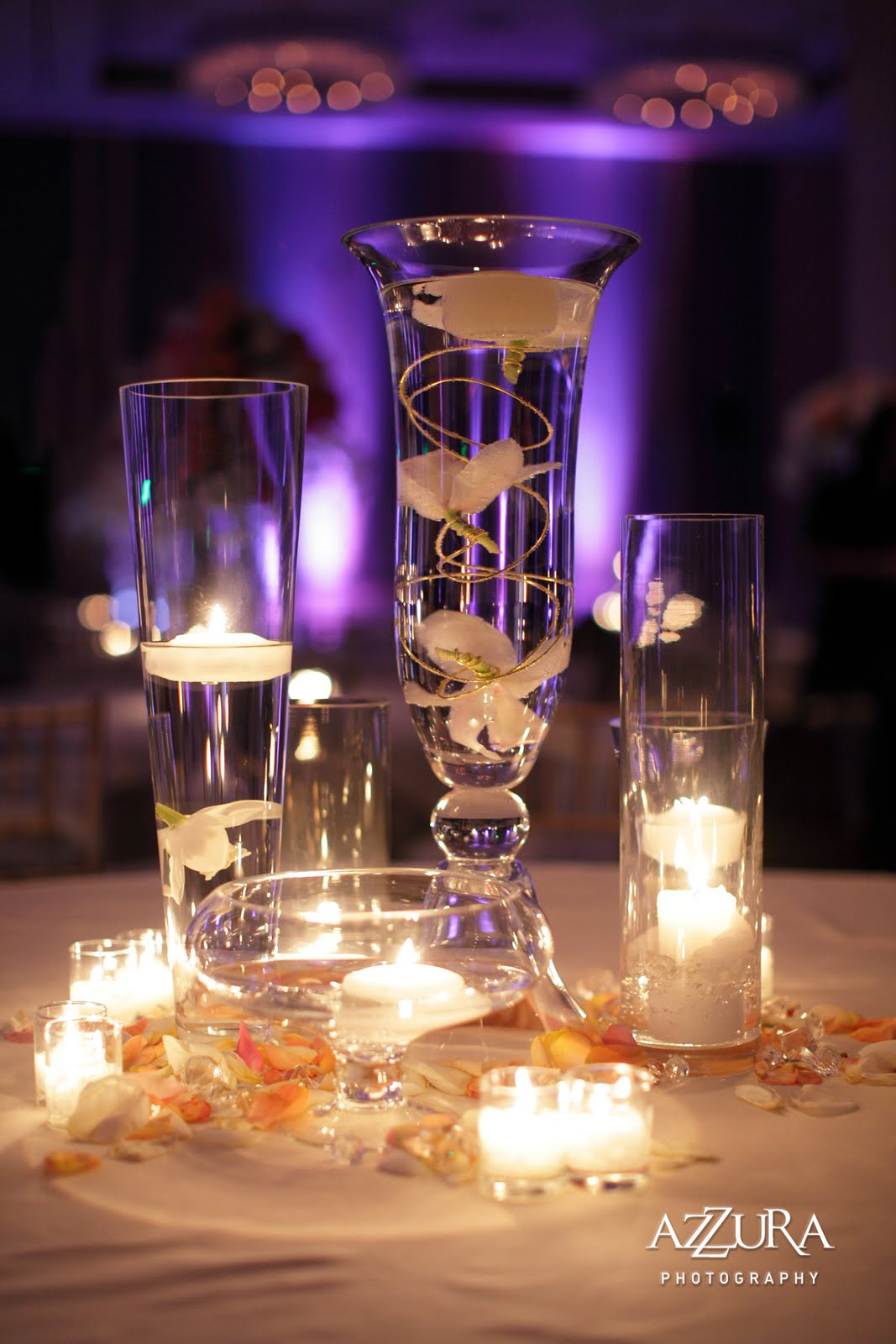 Flora nova design the blog amazing real wedding for Candle centerpieces for weddings ideas