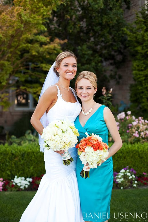 white and turquoise wedding dresses A Vibrant Summer Wedding