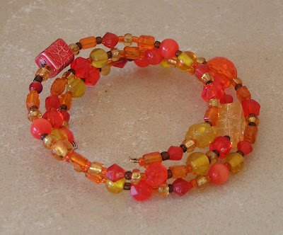 orange bead bracelet