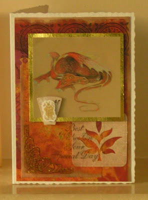 dragon greetings card