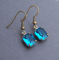 vintage jewel earrings turquoise
