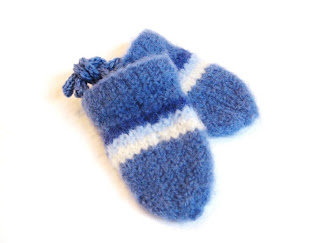 felted baby mittens knitted image