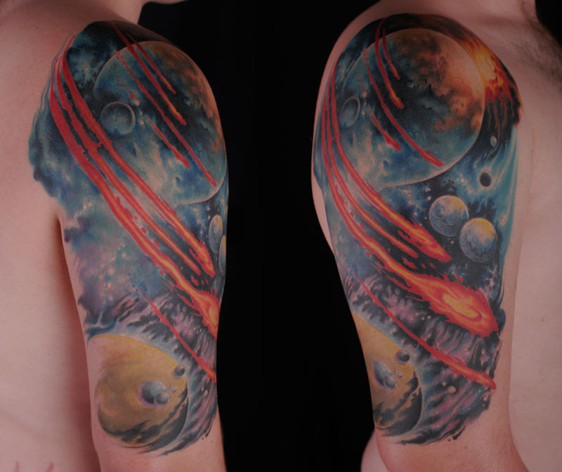 Space Sleeve Tattoos