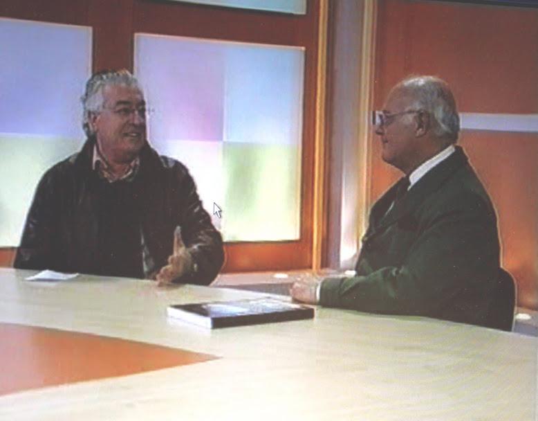 Con Santos en Canal 29 Valladolid.