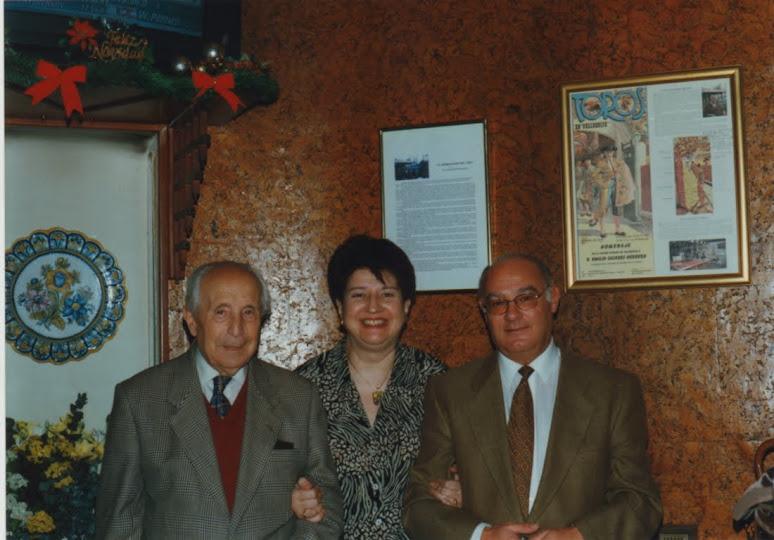 Con D. Emilio y Pilar.