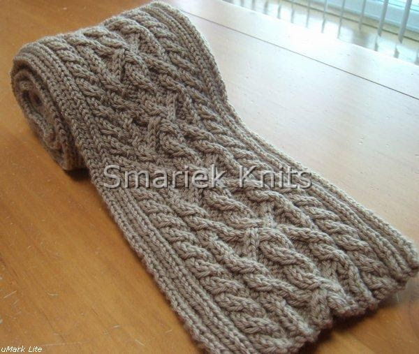 Free Cable Knitting Patterns For Scarves : Triumph Cable Scarf Pattern ~ smariek knits