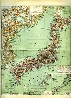 DokdoorTakeshima German Map Of Japan And Korea - Map of japan and korea