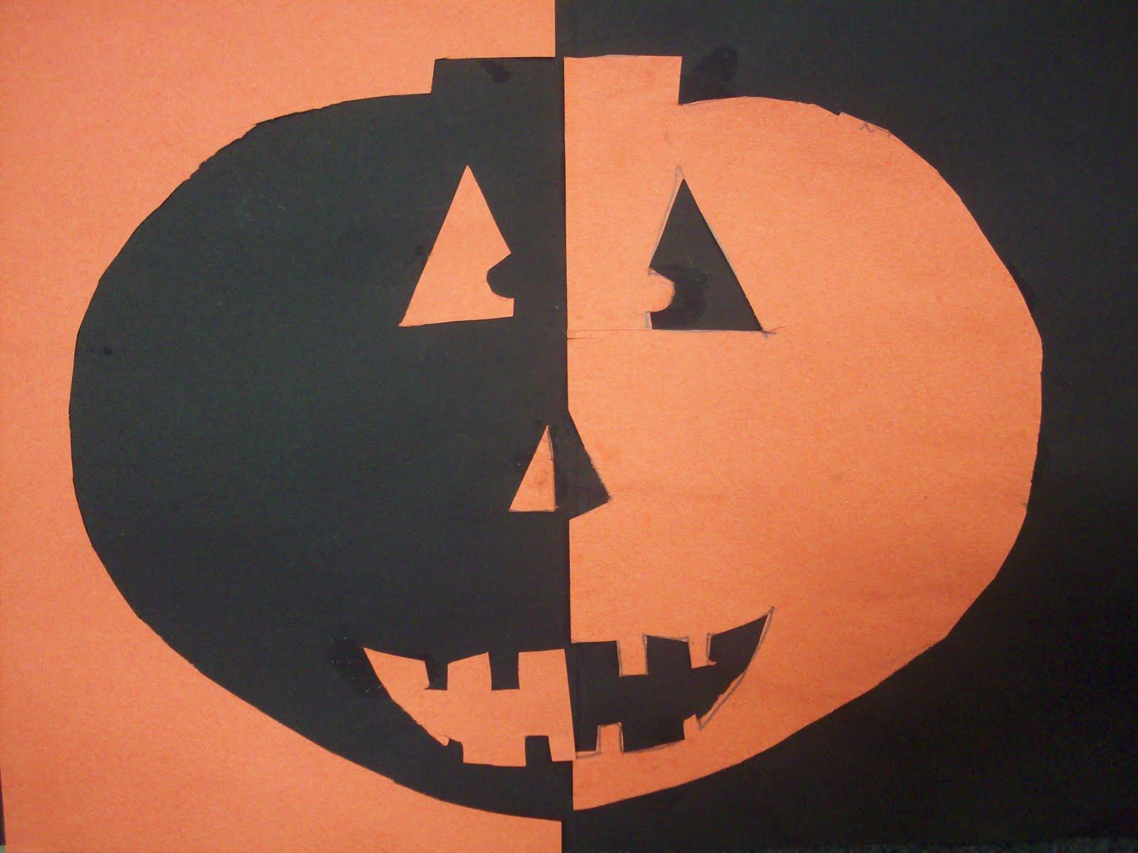 Classroom Design Ideas For Middle School ~ Mrs porter s palette symmetrical pumpkins
