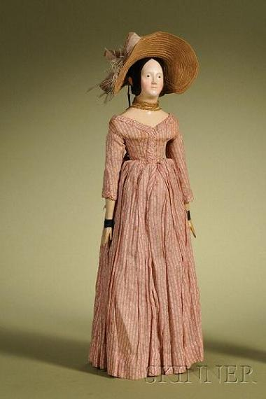Papier-mache with Queen Victoria Hairstyle, Germany, c. 1840