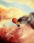 Balloon Crash. An inspirational for a children's novel. (balloon )