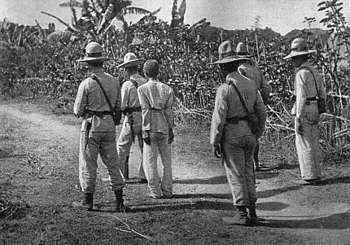 1896-1897 Spanish soldiers leading a Katipunero to execution
