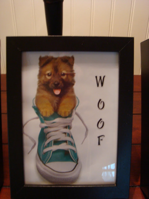 puppies in Converse shoes and cut them to size to fit in each frame.