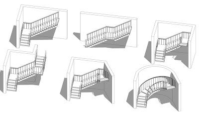 Crear escaleras para revit architecture tutorial for Escaleras con descanso de concreto