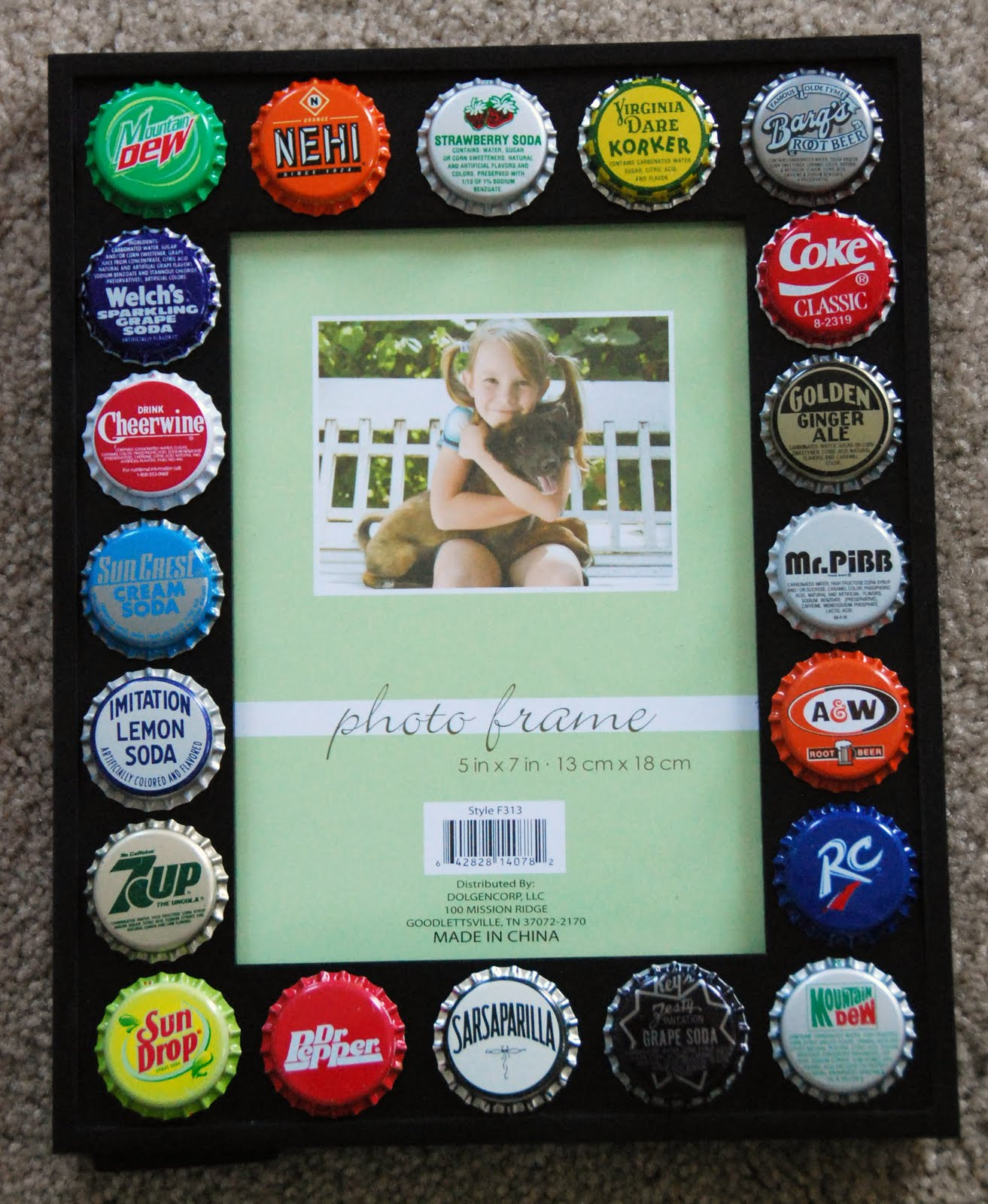 all things crafty bottle cap picture frame