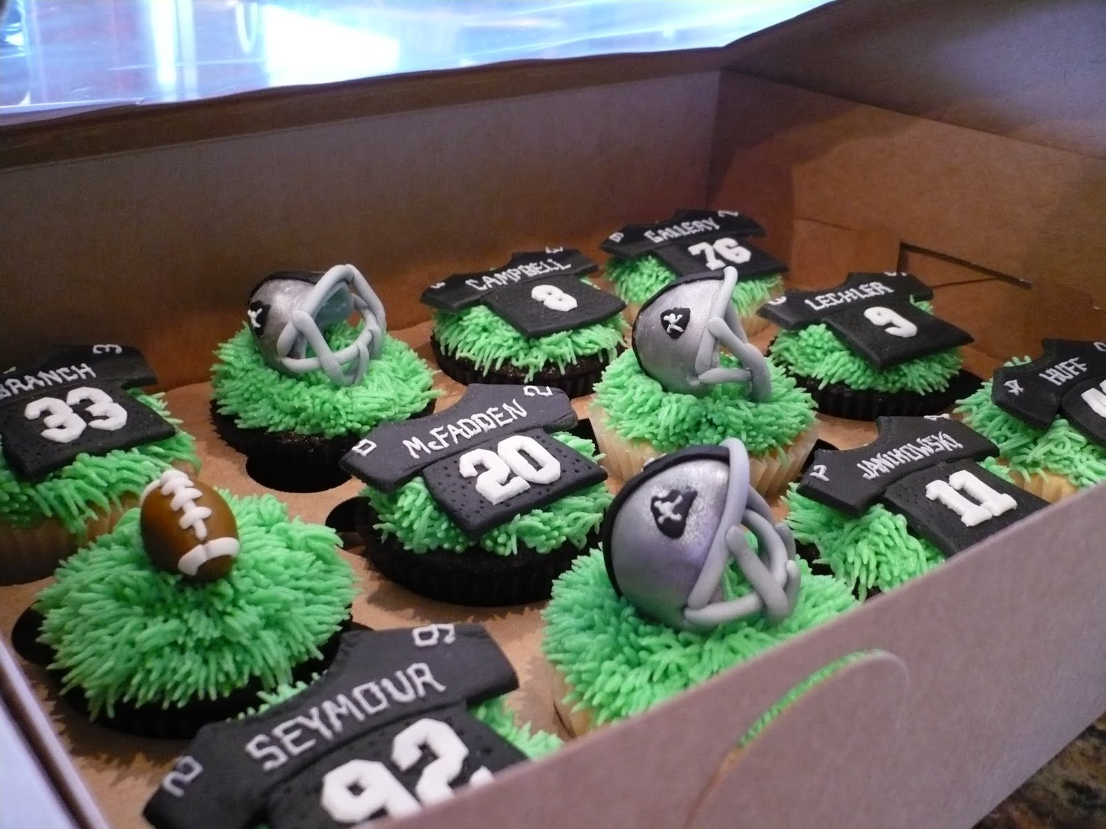 The Wright Report Raiders Cupcakes