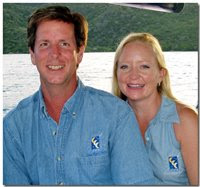 Randy & Shelly, owner-operators of charter yacht Three Moons