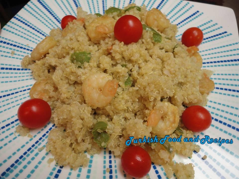 Shrimp Quinoa (Karidesli Kinoa)