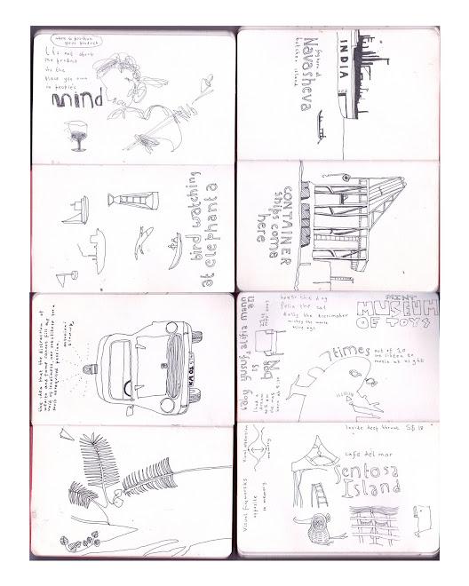 sketch book spreads